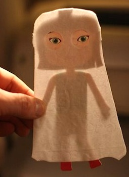 Wee Life paper doll ghosts