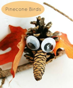 Blueberry Junkie pine cone birds