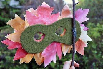 leaf mask craft