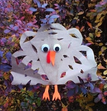 snowflake turkey craft