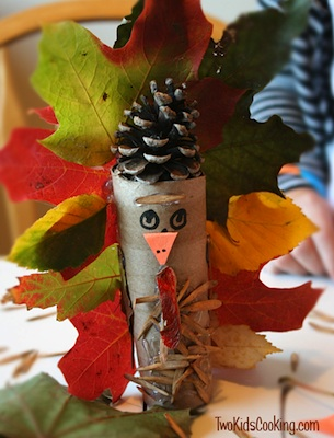 fall leaf turkey craft