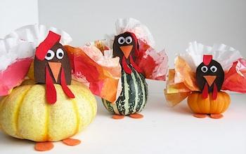 gourd turkey craft