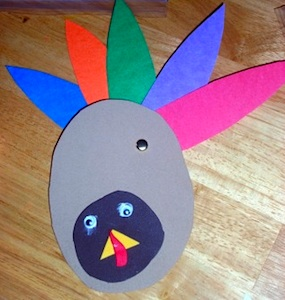 paper turkey craft for preschool