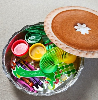 faux pumpkin pie treat holder