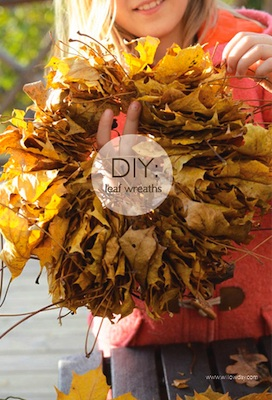 easy leaf wreath craft for kids