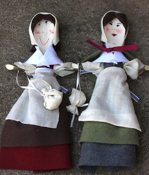 My Mommy Makes It pilgrim spoon dolls history craft