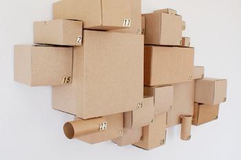 homemade advent calendar ideas cardboard box cluster advent