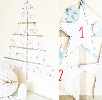 homemade advent calendar ideas paper craft star advent calendar