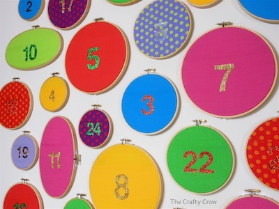 The Crafty Crow wall pocket advent calendar tutorial 2