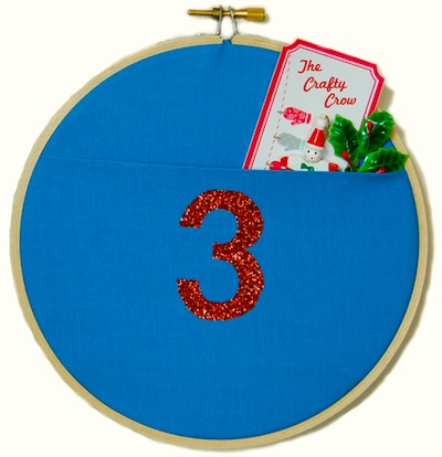 The Crafty Crow wall pocket advent calendar tutorial 4