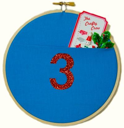 The Crafty Crow wall pocket advent calendar tutorial 4