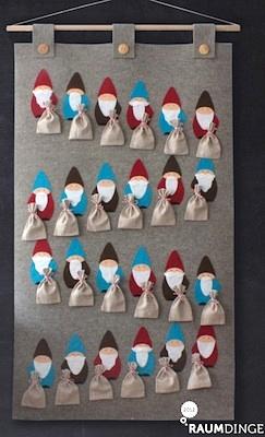 homemade advent calendar ideas sweet Christmas elf advent calendar to make