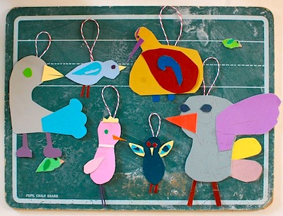 Giddy Giddy bird ornaments