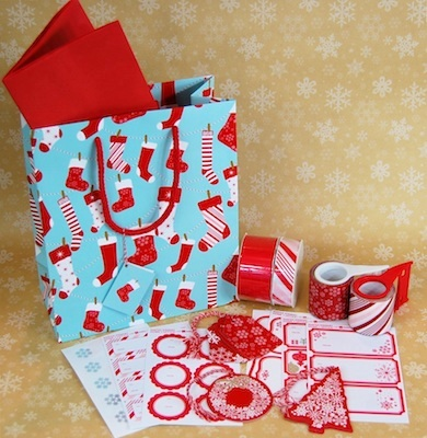 Martha Stewart Home Office wrapping paper and tags 3