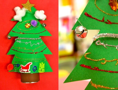 tin can christmas trees craft