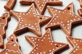 gingerbread looking salt dough ornaments