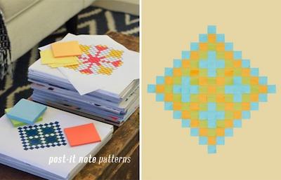 post-it note math patterns