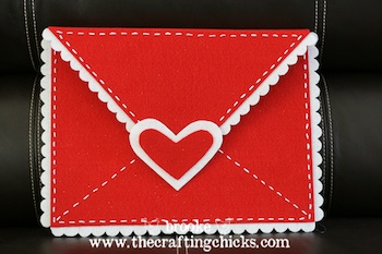 extra large felt valentine envelope craft