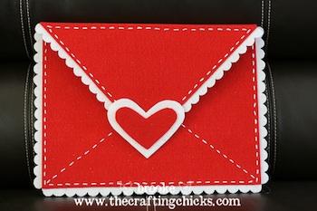 extra large felt valentine envelope craft