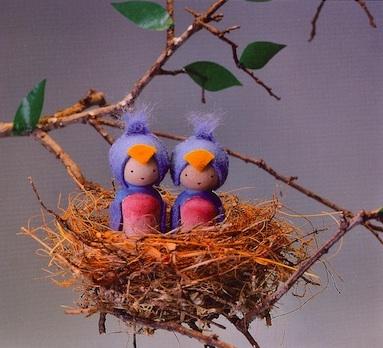Making Peg Dolls bluebird peg dolls