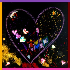 heart map art project for kids
