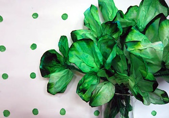 We Know Stuff coffee filter shamrocks for St. Patrick's day craft