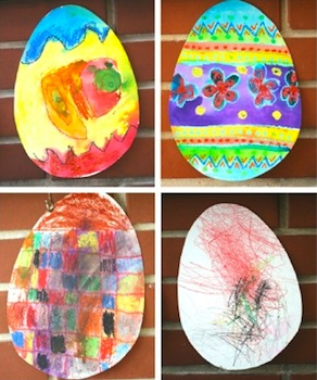 Easter Egg Art With Oil Pastels And Watercolors Things To Make And
