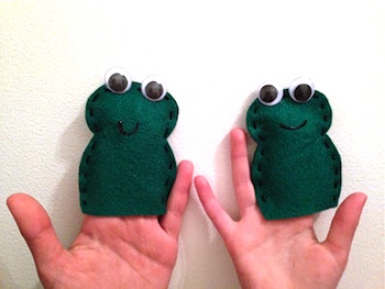 passover craft felt frogs
