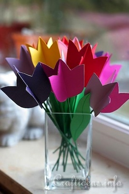 Craft Ideas paper tulips