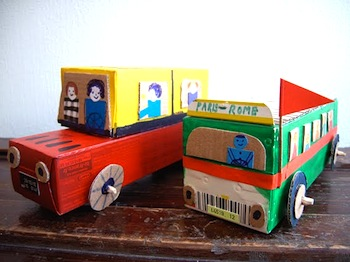 cardboard box craft vehicles