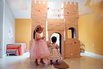 cardboard box craft castle