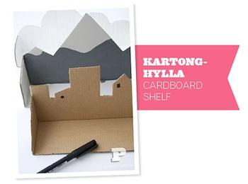 cardboard box craft shelf diy