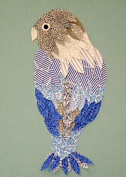 Rolled Newspaper Art Crafted Security Envelope Bird Craft