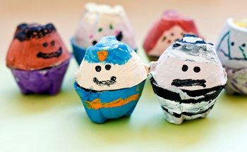 egg carton craft for kids egg carton people