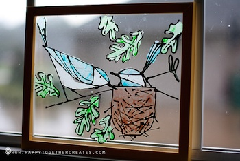 Happy Together glass painting craft tutorial