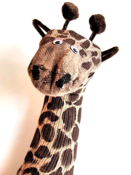 Craft Jr. giraffe sock puppet