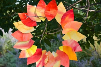 Rhythm of The Home fall watercolor crafts garland wreath