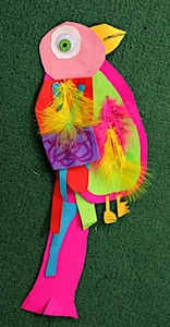 SmArt Class paper collage birds craft