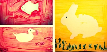 Blog Me Mom animal resist painting