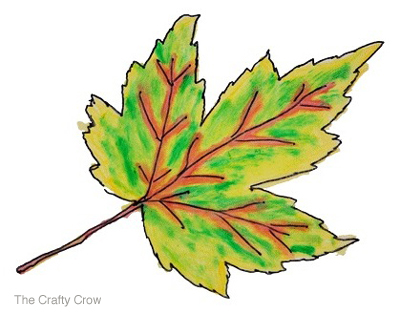 The Crafty Crow ink painted leaves 5