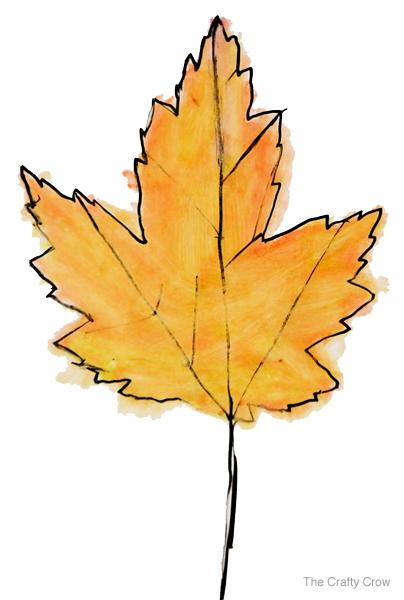 Leaves Paintings And Drawings Ink Painted Fall Leaves 2