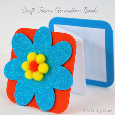 The Crafty Crow craft foam accordion book button 1