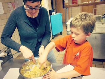 Skill It fall harvest vegetable soup mother and son cooking together