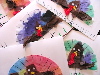 coffee filter turkey homemade cards