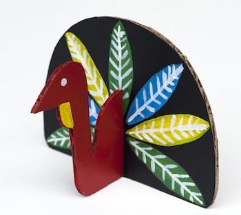 turkey craft modern cardboard turkey