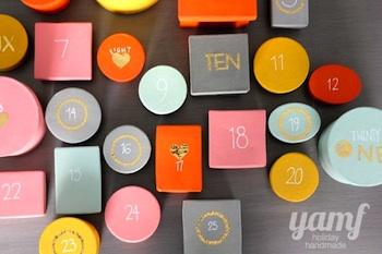 homemade advent calendar colorful boxes advent calendar idea