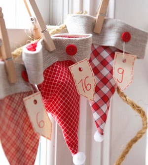 homemade advent calendar ideas
