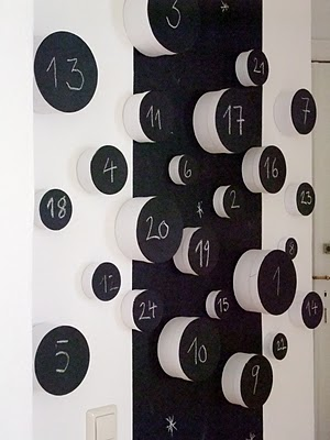 homemade advent calendar ideas modern contemporary black and white chalkboard advent calendar