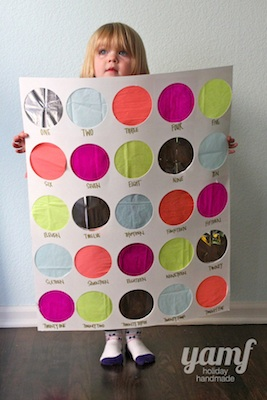 homemade advent calendar ideas punch board advent calendar idea