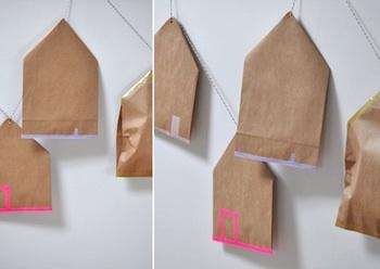 homemade advent calendar ideas paper sack house and washi tape advent calendar idea